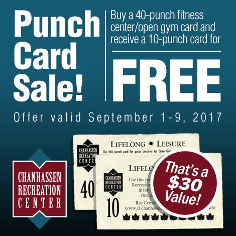 Punch Card Sale - Sept. 1-9