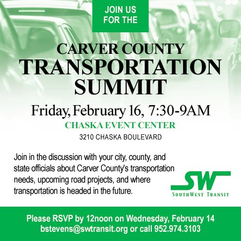 Carver County Transportation Summit