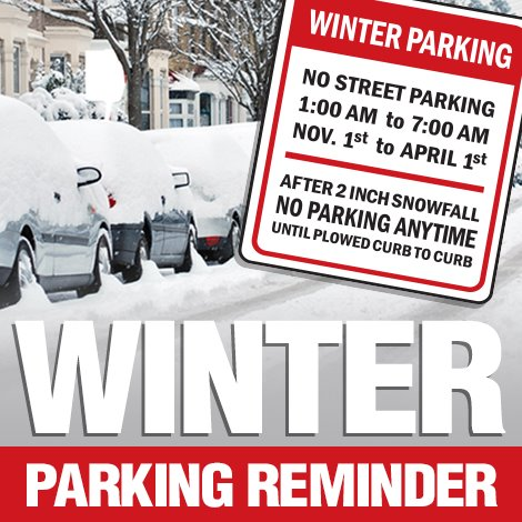 Winter Parking Ends